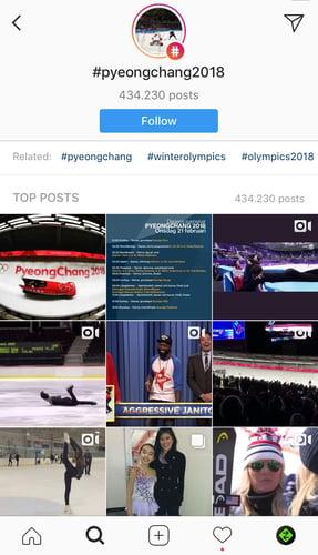 Primer prikaza ključnika/hashtag na Instagram. KRAFT&WERK
