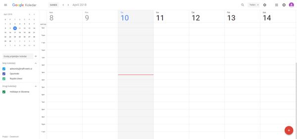 Google Calendar - Kraft&Werk