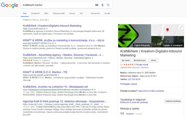 Google My Business - Kraft&Werk