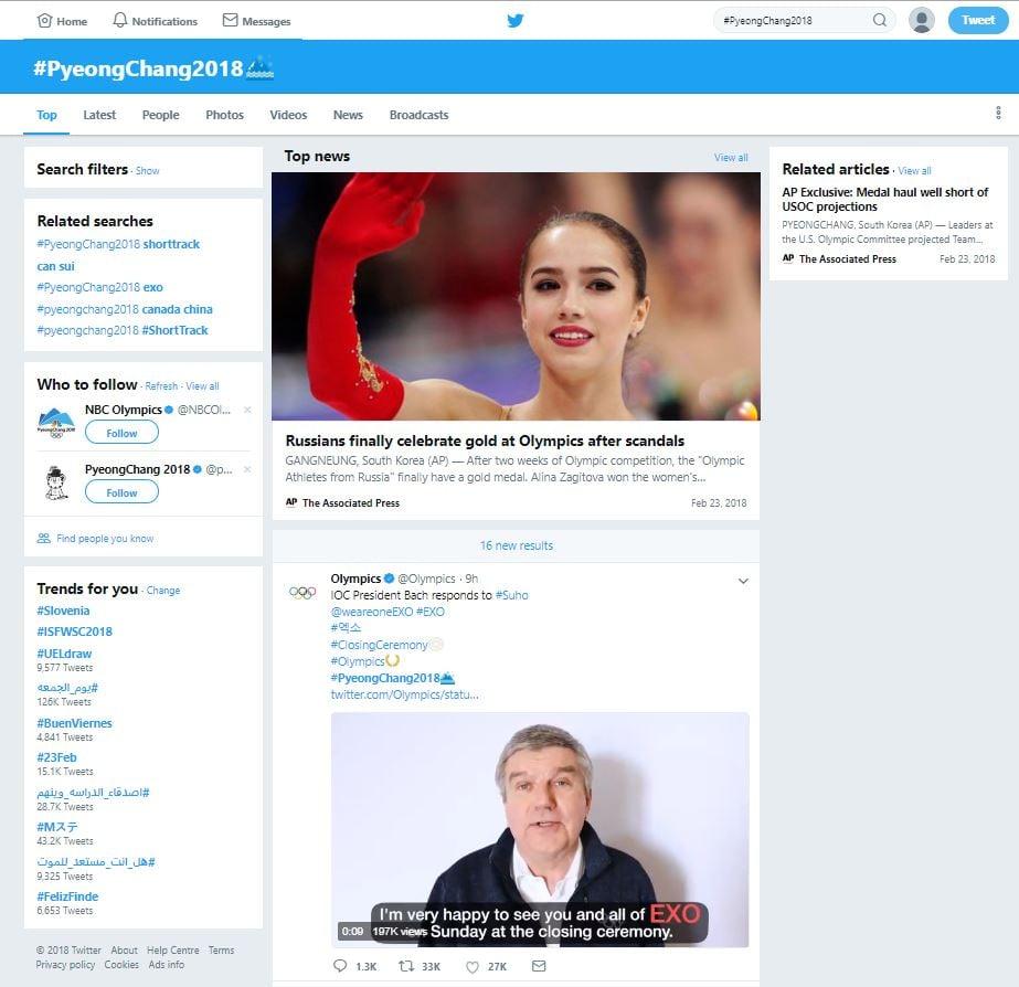 Prikaz delovanja ključnika/hastag na Twitter-ju. KRAFT&WERK